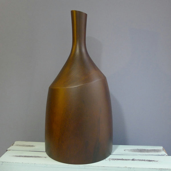 Sculpted Wooden Vase - cibola