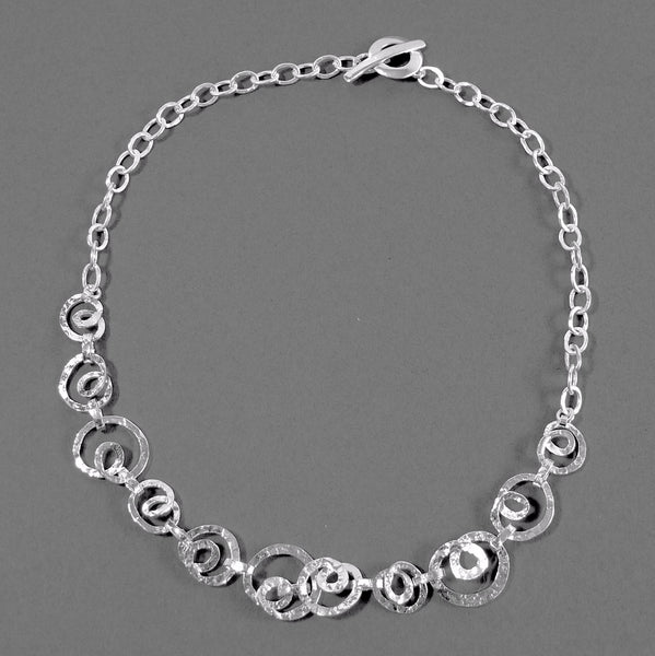Hammered Concha Necklace - cibola