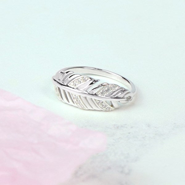 Silver Feather Ring - cibola