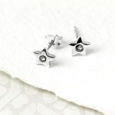 Star Crystal Stud Earrings - cibola