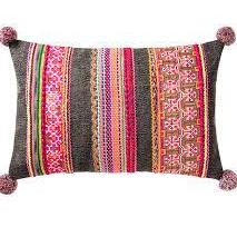 Durry Cushion Cover with Pom Poms