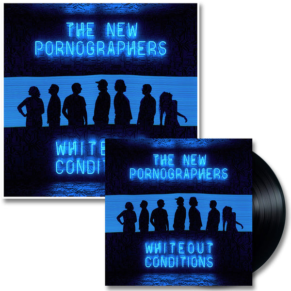 Official The New Pornographers Whiteout Conditions LP & Print
