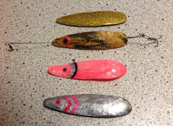 Glittery fishing lure made from AnyShape