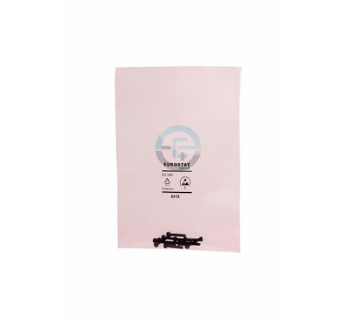 ESD Safe Pink Poly Bags - Pack of 100