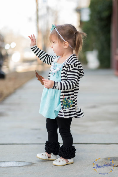 Stripe floral mom and me match knit cardigan by flowermill dresses handmade in texas usa