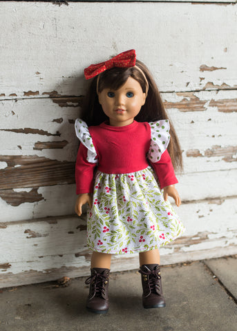 "American Girl 18"" doll Bitty Baby made to match flowermill dresses doll match fall"