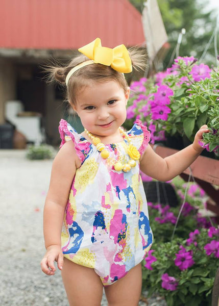 Paint colorful mod baby bubble style made in america flowermill dresses spring summer fashion