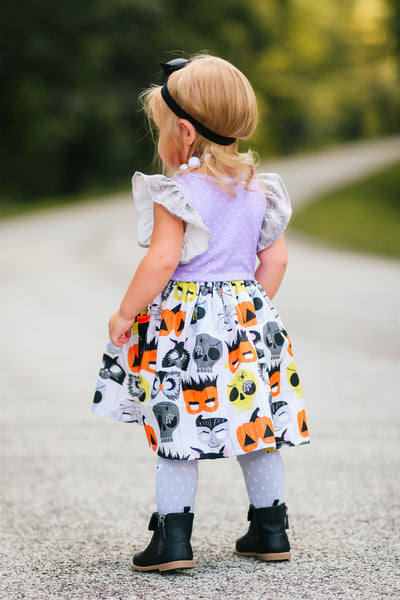 halloween dress made in american pumpkin cats owls ghosts american girl match