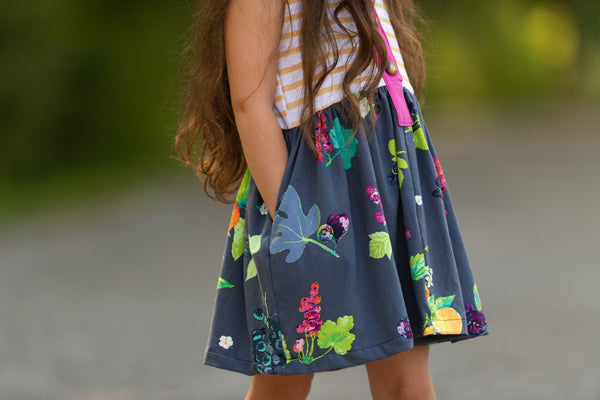 fruit lemon dress made in america summer time handmade dress flowermill dresses berries
