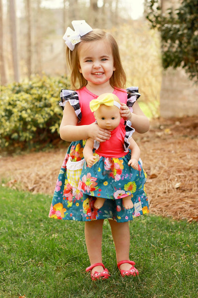 Doll Match handmade in america kids clothes American Girl Spring