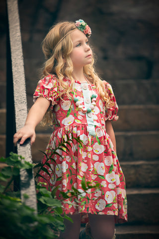Spring collection 2018 flowermill dresses spring floral all knit dress handmade in american dallas texas flowermill dresses poppy mightylinksfo