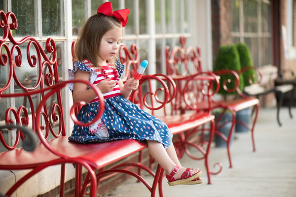fourth of july patriotic made in america usa flowermill handmade dresses