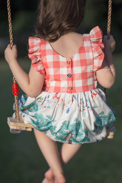 Dreamer meadowlark childhood school day girls twirling gingham back to school dress summer pockets flounce