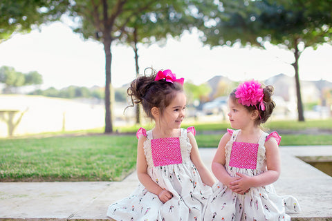 Ballerina, Ballet, Pink Girls Flutter sleeve lace spring dress by FlowerSack Dresses