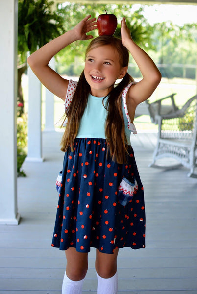 school days back to school dress handmade in texas flowermill dresses apple dress fall