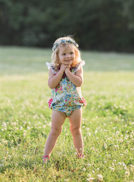 Baby bubble floral leopard spring summer handmade in texas flowermilldresses
