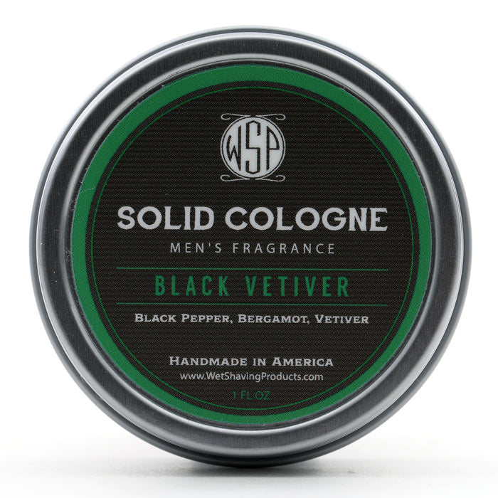 Solid Cologne Signature Scent - Black Vetiver 1 oz in tin