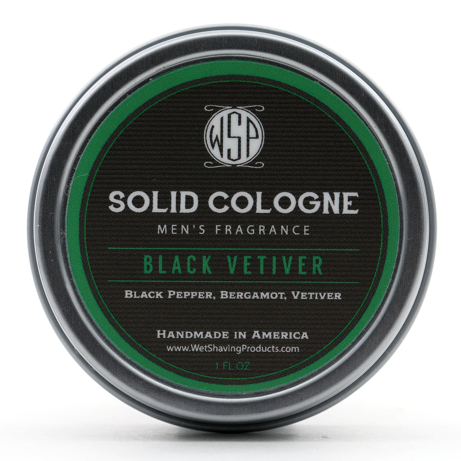 Solid Cologne EdP Strength Signature Scent - Black Vetiver 1 oz in tin