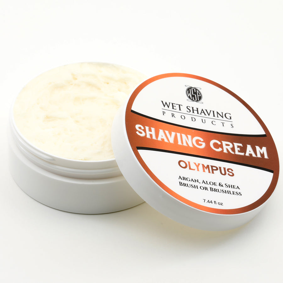 Shaving Cream 6 oz (Olympus) Featuring Argan & Aloe