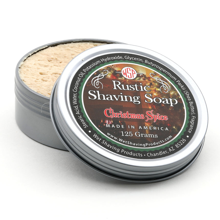 Limited Edition (Christmas Spice) - Rustic Shaving Soap Vegan & Natural 4.4 oz; 125 g