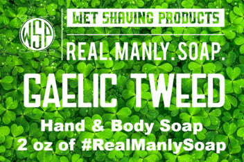 2 oz Travel Size of Real. Manly. Soap.