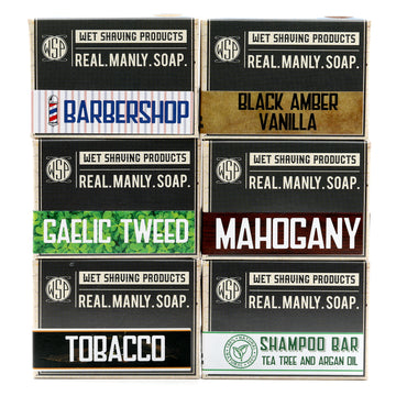 6 Pack of Real. Manly. Soap.