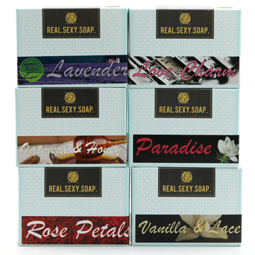 6 Pack of Women's Real. Sexy. Soap. Castile Bar 4.5 oz