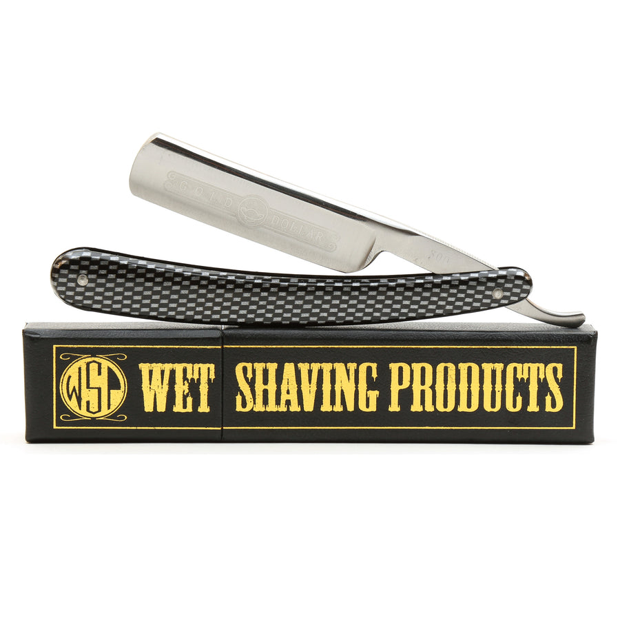 -Shave Ready- Starter Straight Razor & Box Gold Dollar 800 Stainless Steel