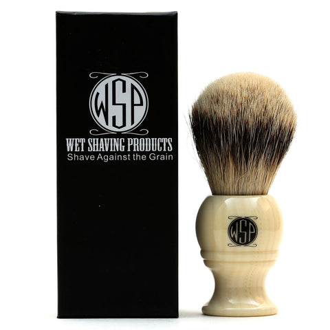 "WSP ""Monarch"" High Density Premium Silvertip Shaving Brush"