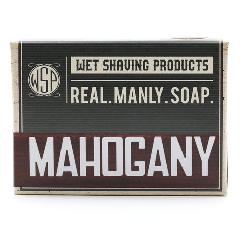Castile Hand & Body Soap Bar 4.5 oz (Mahogany) Vegan Natural Ingredients