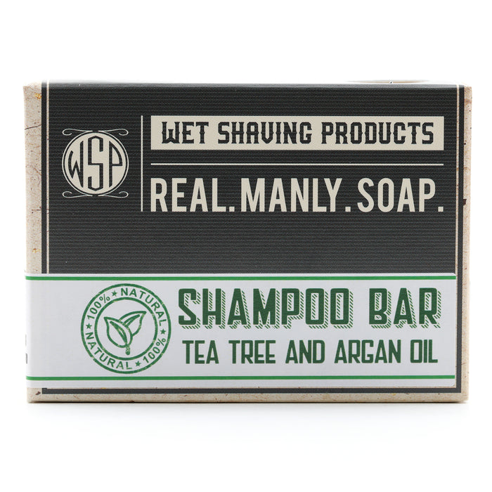 Tea Tree Shampoo & Beard Wash Bar 4.5 oz 100% Vegan & Natural