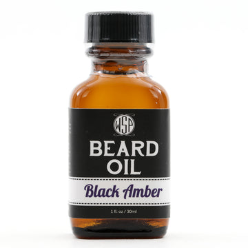 Beard & Mustache Oil - Natural, Simple, & Vegan (Black Amber)