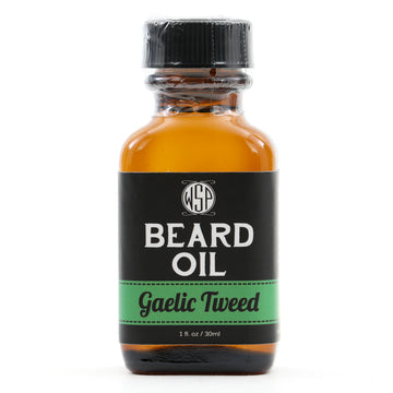 Beard & Mustache Oil - Natural, Simple, & Vegan (Gaelic Tweed)