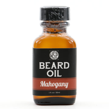 Beard & Mustache Oil - Natural, Simple, & Vegan (Mahogany)