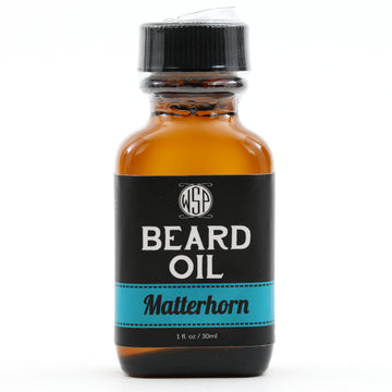 Beard & Mustache Oil - Natural, Simple, & Vegan (Matterhorn (Silver Mountain Water))