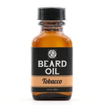 Beard & Mustache Oil - Natural, Simple, & Vegan (Tobacco)