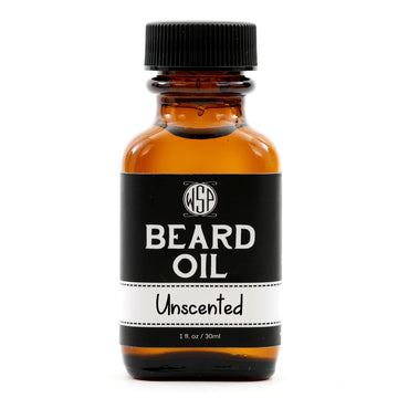 Beard & Mustache Oil - Natural, Simple, & Vegan (Unscented)