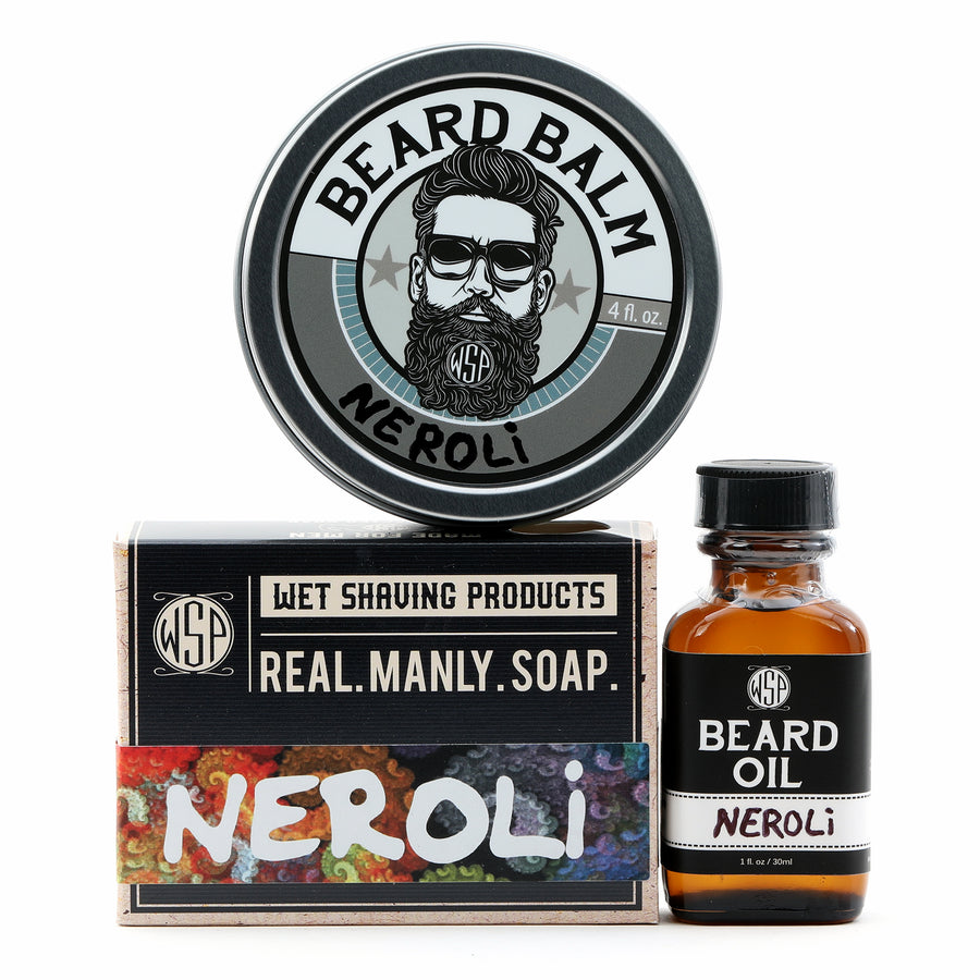 Limited Edition - Neroli - Beard Set (Balm, Oil, & Soap)
