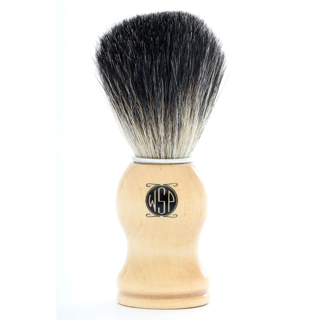 WSP High Density 100% Pure Black Badger Shaving Brush