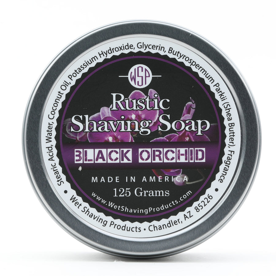Limited Edition - Black Orchid - Rustic Shaving Soap Vegan & Natural 4 fl oz