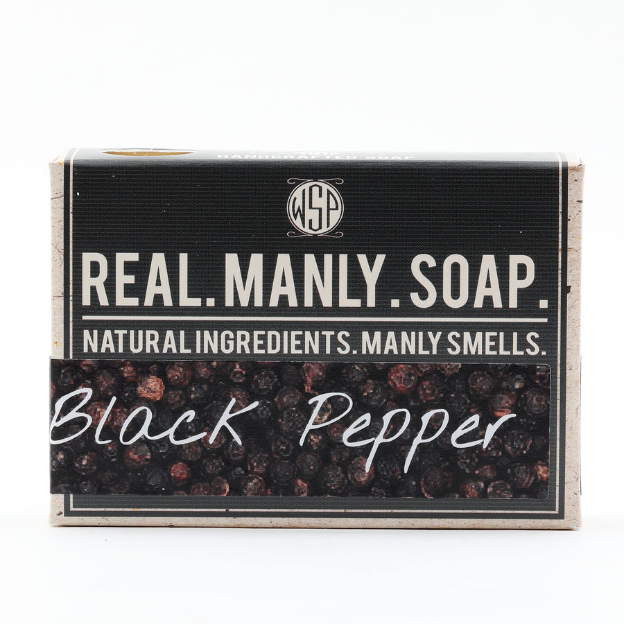Limited Edition (Black Pepper) - Rustic Fragrance Set (Bar Soap, Soap, & Aftershave)