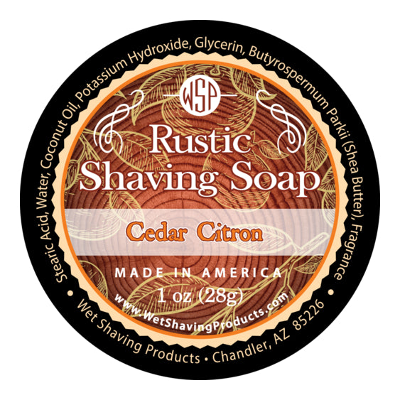 Sample/Travel Size Rustic Shaving Soap 1 Oz