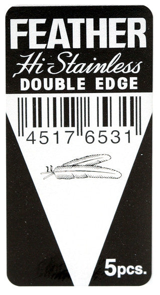 Feather Hi-Stainless Double Edge (De) Blades (5 Blades)