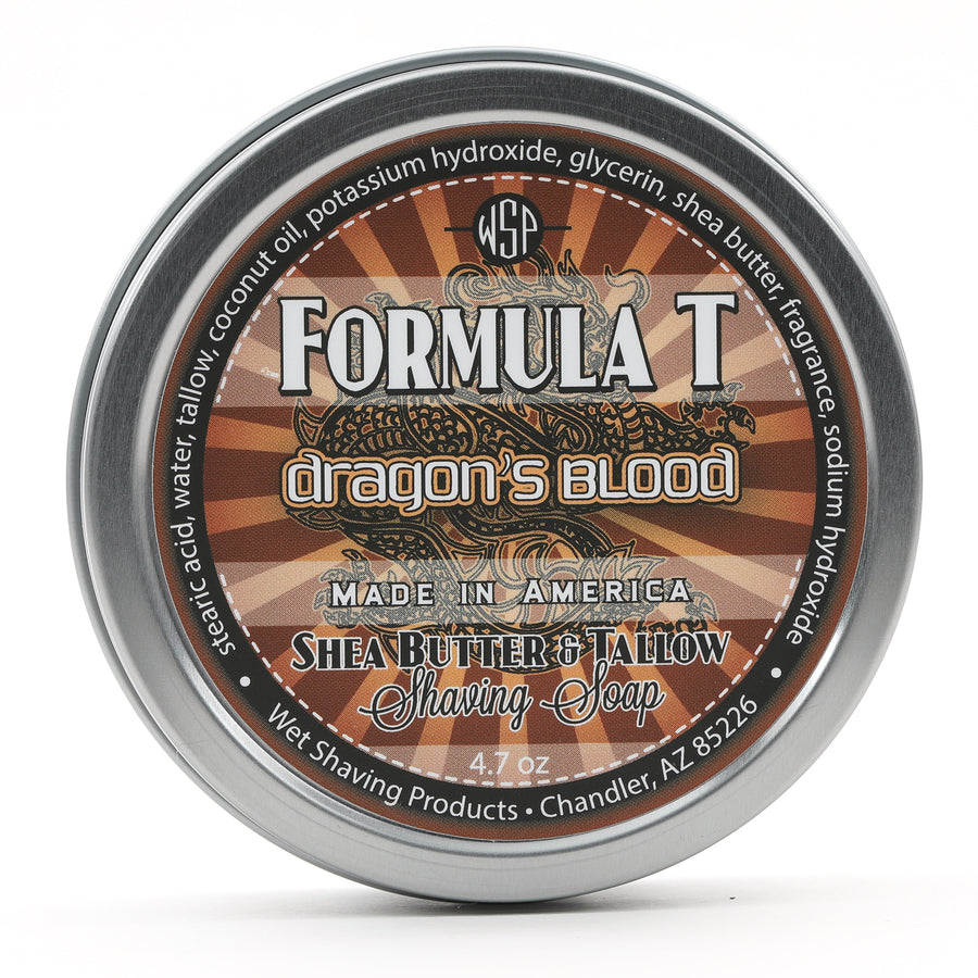 Limited Edition Dragon's Blood Formula T Shaving Soap 4 fl oz Made with Shea Butter & Tallow