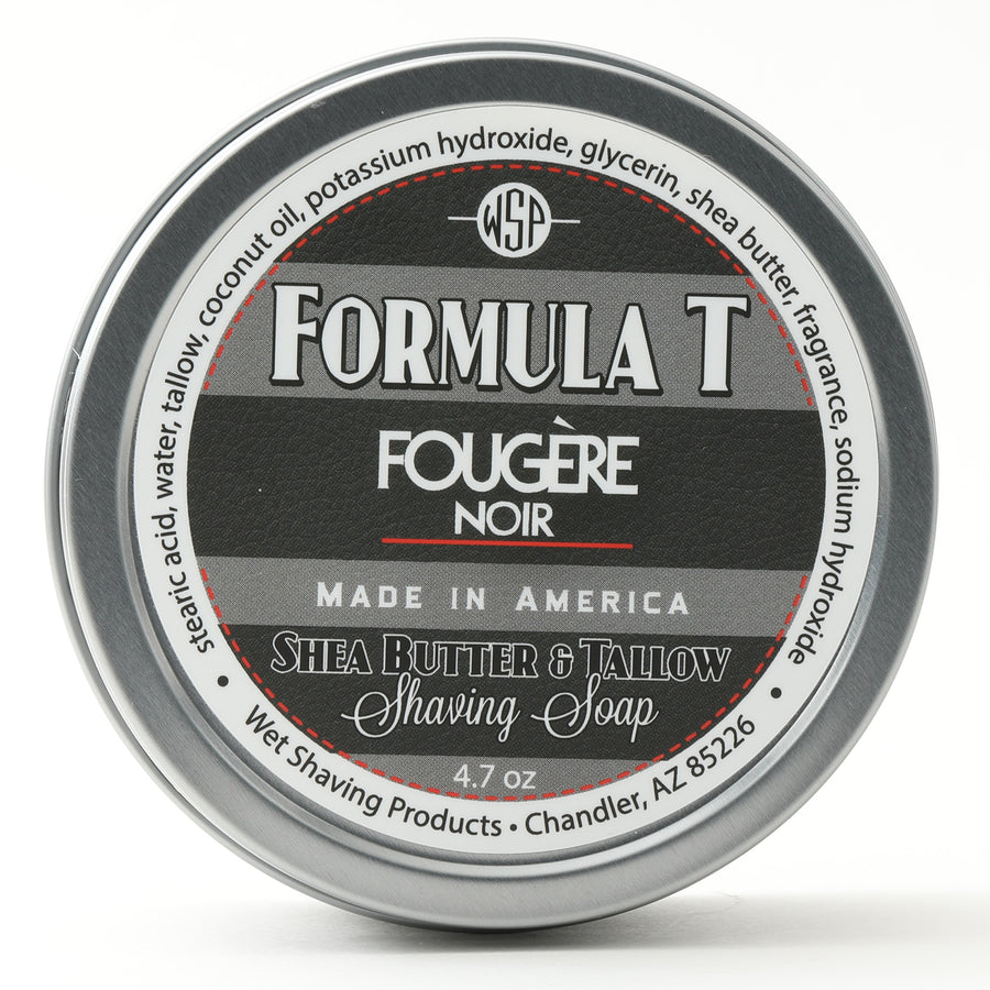 Limited Edition Fougere Noir Formula T Shaving Soap 4.7 oz Made with Shea Butter & Tallow