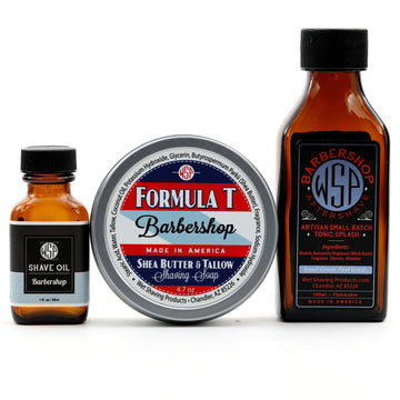 Formula T Fragrance Set (Pre Shave, Soap, & Aftershave) (Barbershop)