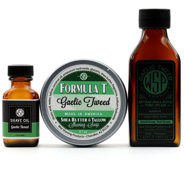 Formula T Fragrance Set (Pre Shave, Soap, & Aftershave) (Gaelic Tweed)