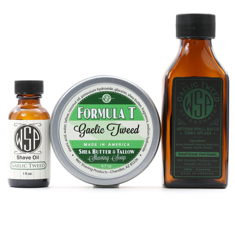 Formula T Fragrance Set (Pre Shave, Soap, & Aftershave)