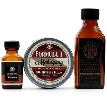 Formula T Fragrance Set (Pre Shave, Soap, & Aftershave) (Mahogany)