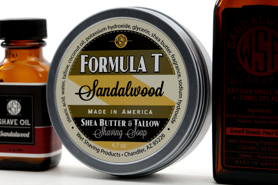 Formula T Fragrance Set (Pre Shave, Soap, & Aftershave) (Sandalwood)